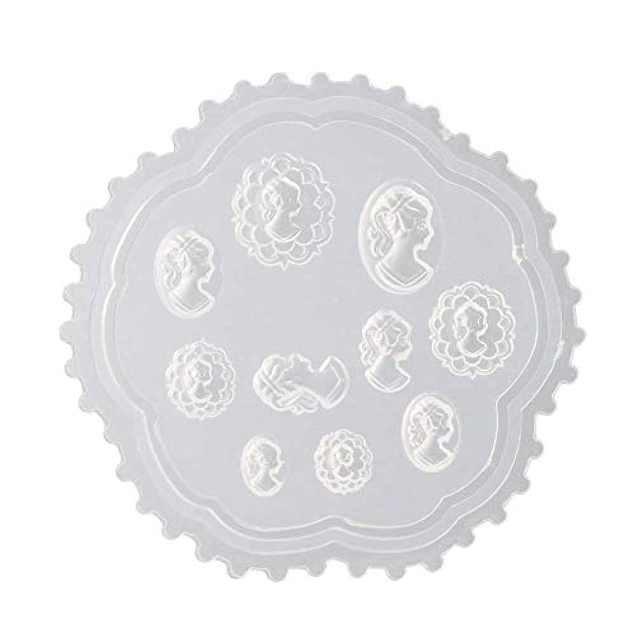 バンジージャンプサイレントリースFlymylion 3Dシリコンモールド ネイル 葉 花 抜き型 3Dネイル用 レジンモールド UVレジン ネイルパーツ ジェル ネイル セット アクセサリー パーツ 作成 (2)