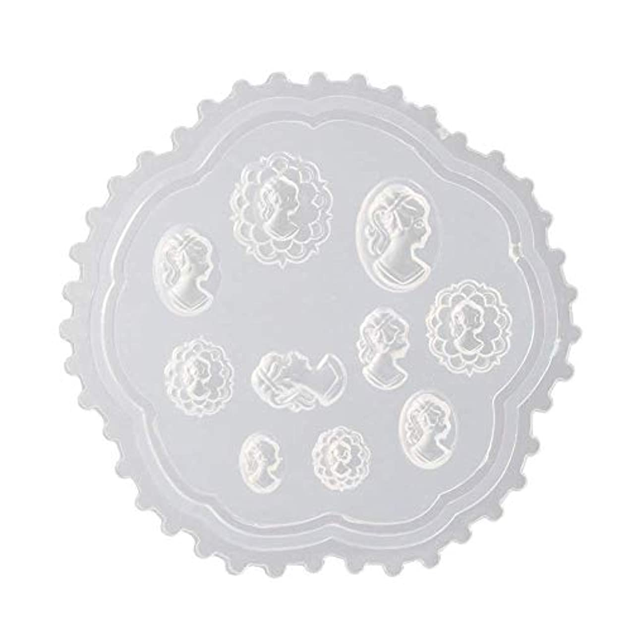 理容師銀行雪だるまgundoop 3Dシリコンモールド ネイル 葉 花 抜き型 3Dネイル用 レジンモールド UVレジン ネイルパーツ ジェル ネイル セット アクセサリー パーツ 作成 (2)