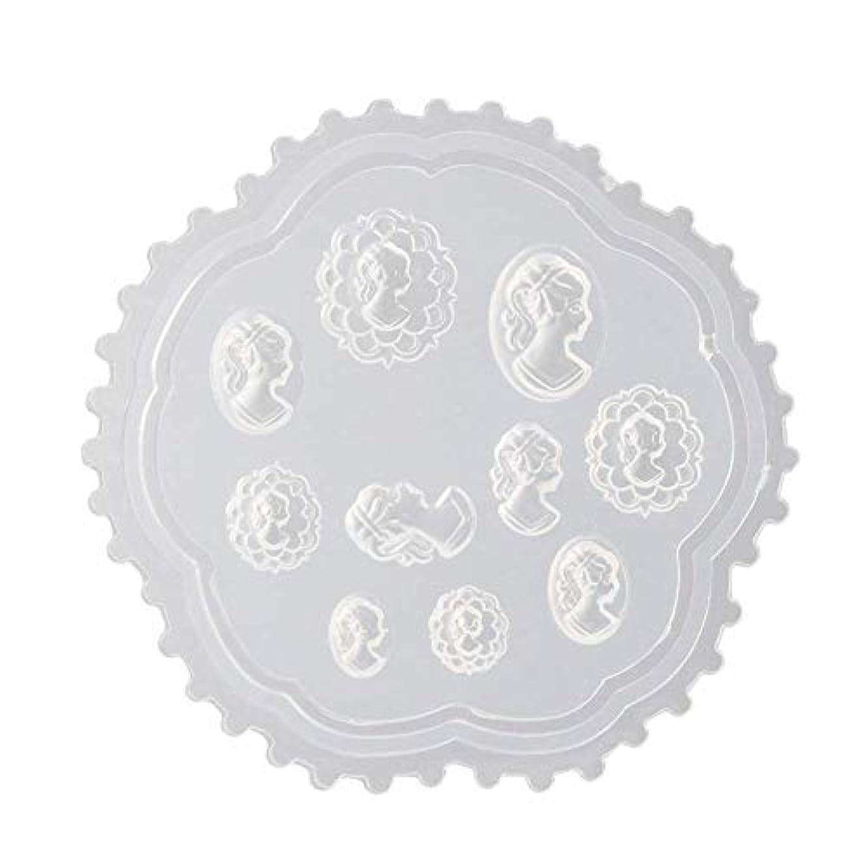 磁気貸す居住者Flymylion 3Dシリコンモールド ネイル 葉 花 抜き型 3Dネイル用 レジンモールド UVレジン ネイルパーツ ジェル ネイル セット アクセサリー パーツ 作成 (2)