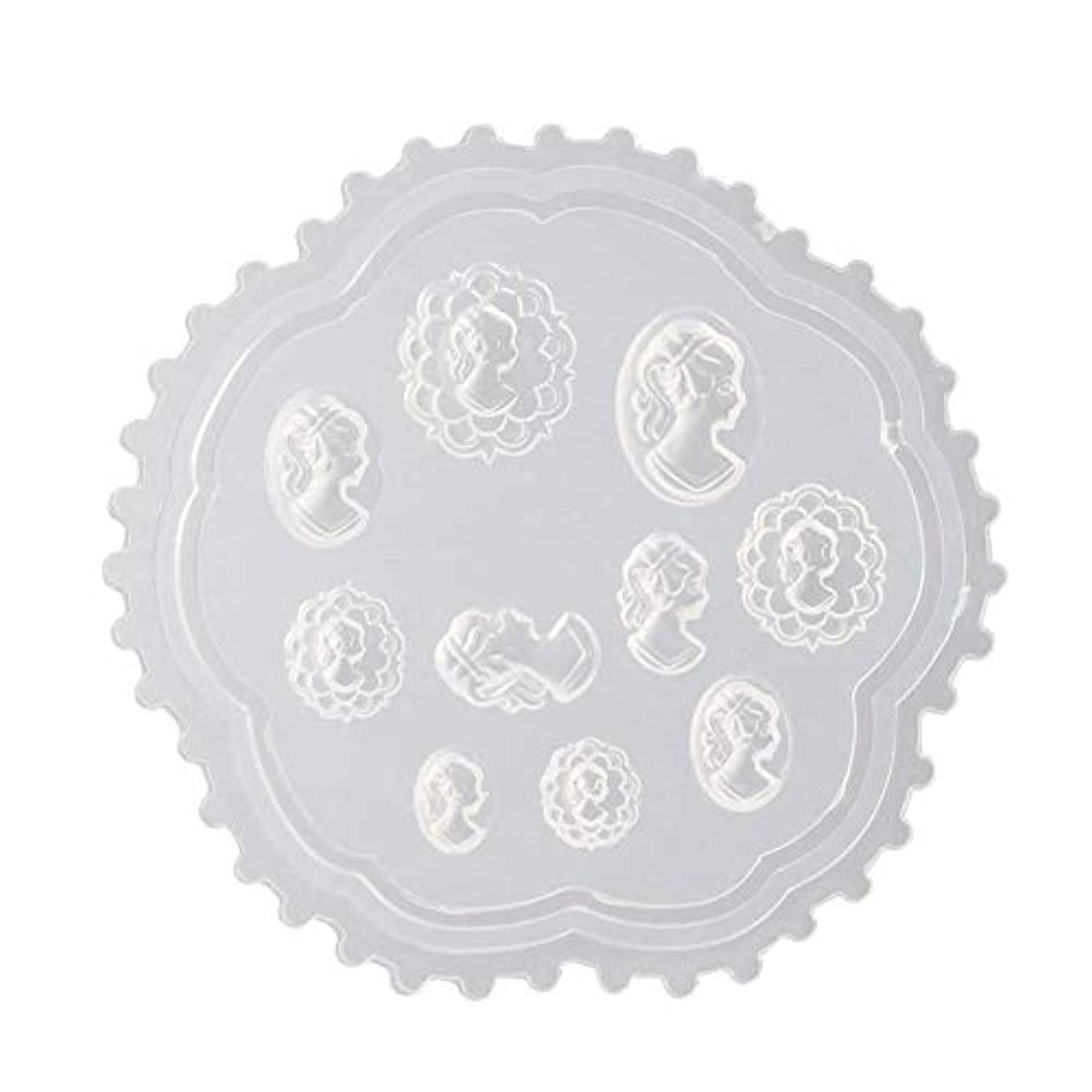 シーケンスストライプマザーランドgundoop 3Dシリコンモールド ネイル 葉 花 抜き型 3Dネイル用 レジンモールド UVレジン ネイルパーツ ジェル ネイル セット アクセサリー パーツ 作成 (2)