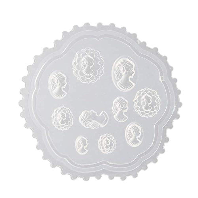 ホイスト圧縮された染色Aomgsd 3Dシリコンモールド ネイル 3Dネイル用 レジンモールド UVレジン ネイルパーツ ジェル ネイル セット アクセサリー パーツ 作成 葉 花 抜き型 (2)