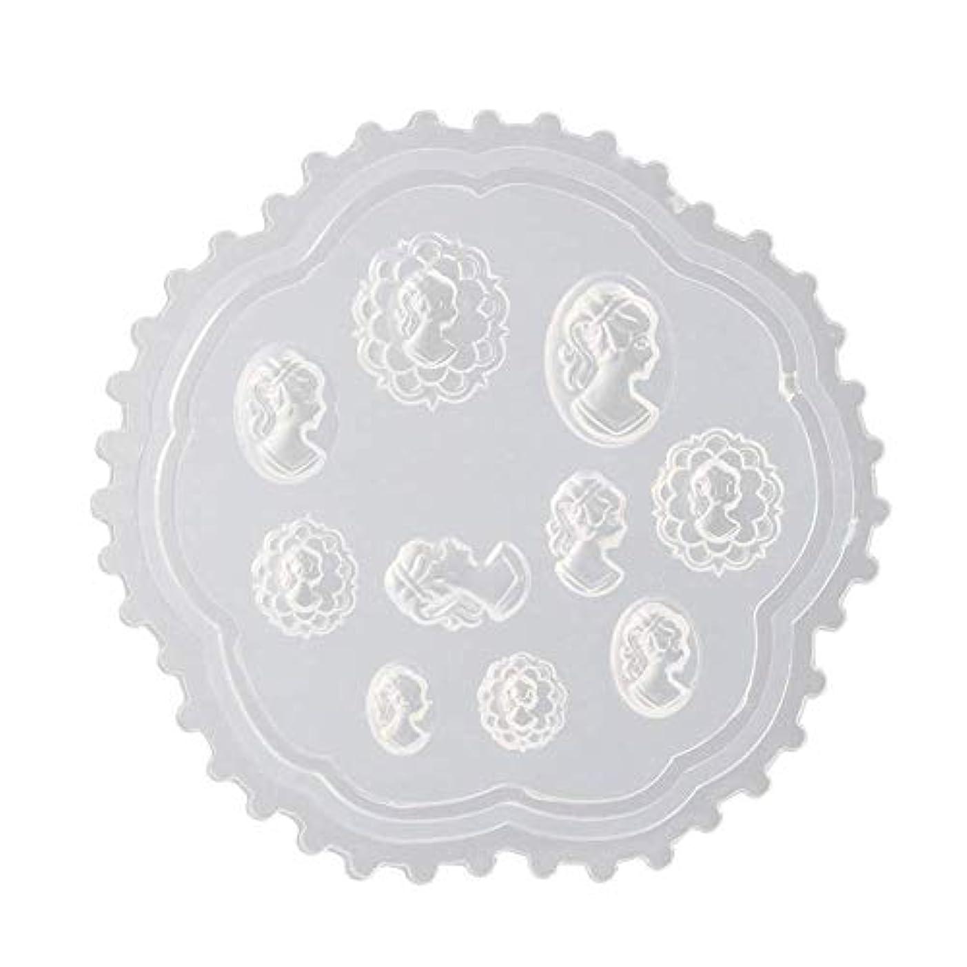 花輪デッド相対サイズFlymylion 3Dシリコンモールド ネイル 葉 花 抜き型 3Dネイル用 レジンモールド UVレジン ネイルパーツ ジェル ネイル セット アクセサリー パーツ 作成 (2)