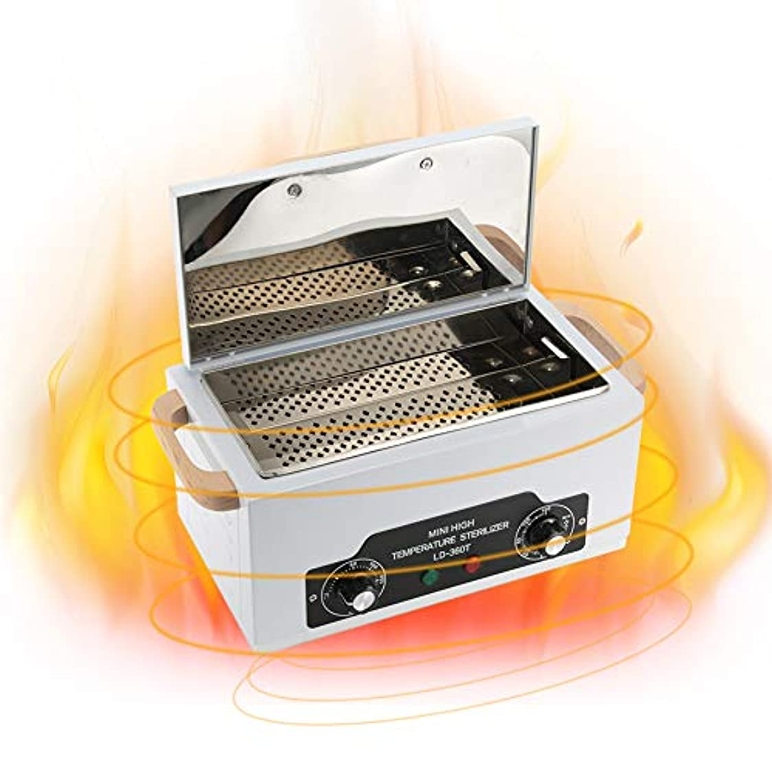 バブル可聴練るネイルツール滅菌ボックス 高温滅菌器 ネイルツール 歯科用器具用 取り外し可能 ステンレス(1)