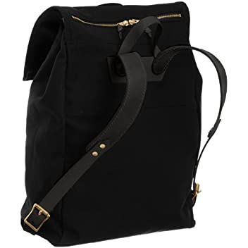 Canoe Back Pack 7278: Black Canvas / Black Leather