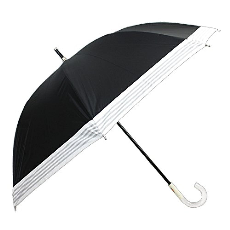 [晴雨兼用ショート] 裾ボーダー切継ぎ 50cm 晴雨兼用パラソル