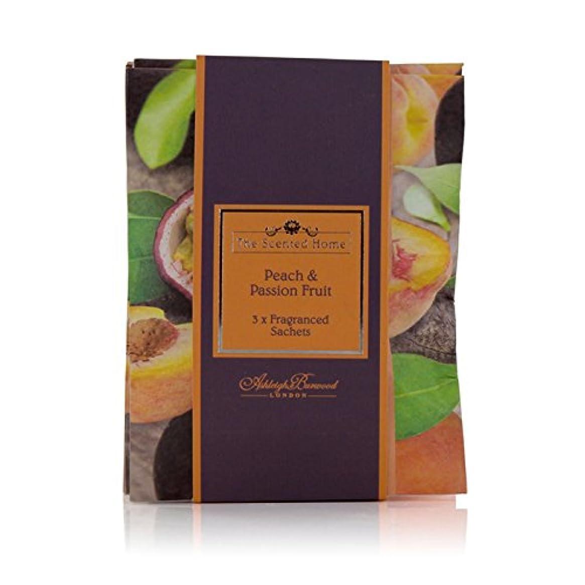 子犬カラス花瓶アシュレイ&バーウッド サシェ 3個セット フレグランスサッシェ 香り袋 (ピーチパッションフルーツ62) [並行輸入品]