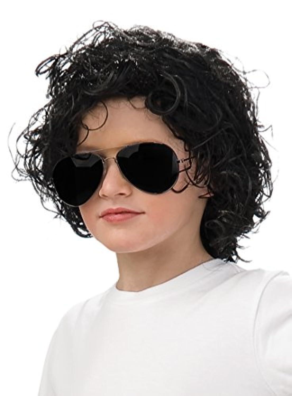 ハロウィン コスプレ キッズ/子供/チャイルド マイケルジャクソンカーリーウィッグ(品番51547) SEC-51547