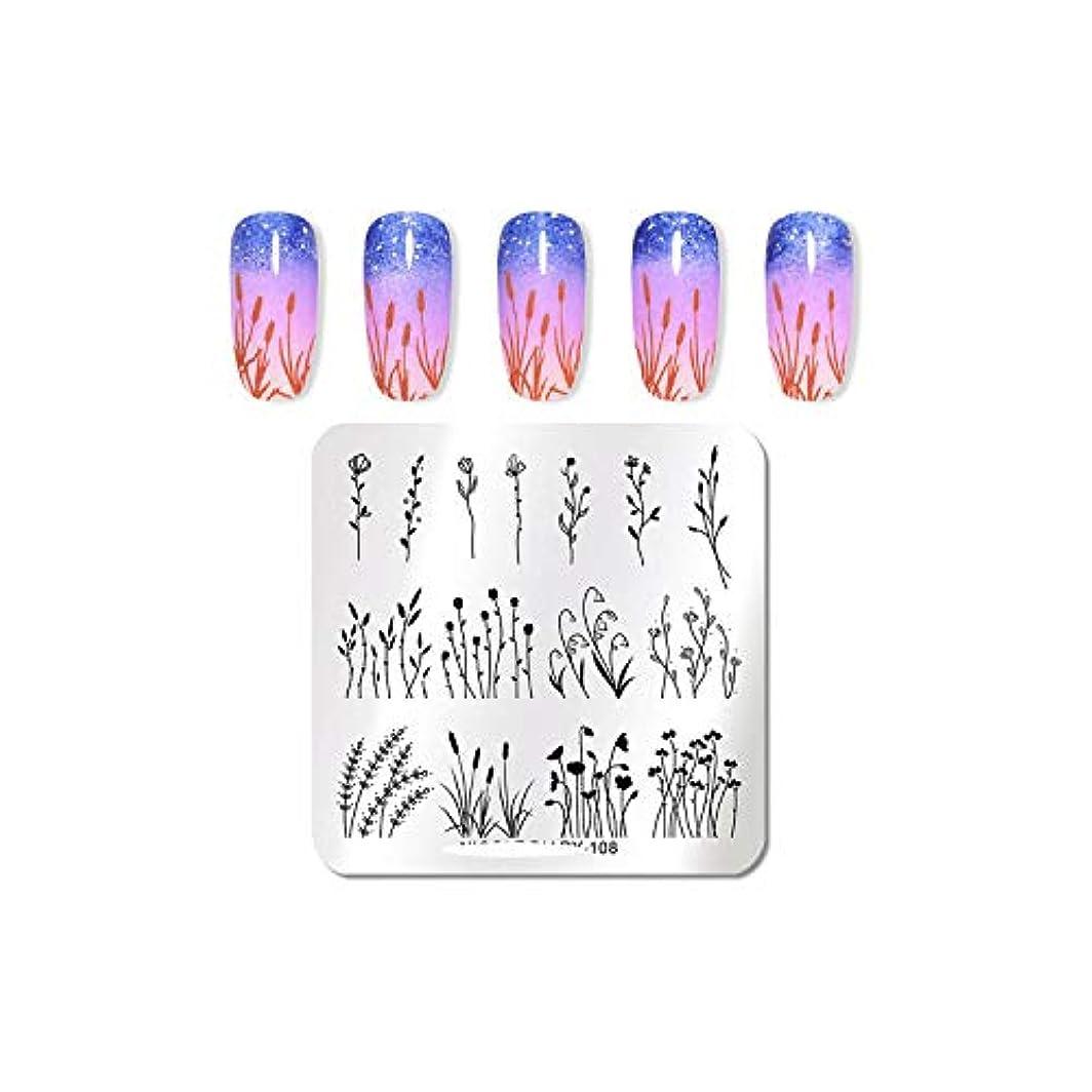 つま先文明化する故意のAKIROKハロウィンネイルスタンピングプレートフラワースネークスキンネイルテンプレートスタンプネイルアートスタンプ画像テンプレートネイルアートステンシル,ND-108