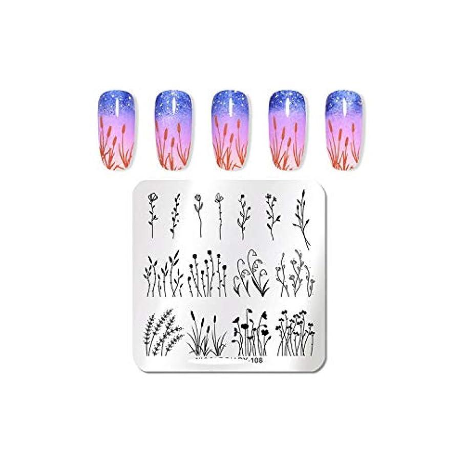 生き残り不利益ひばりAKIROKハロウィンネイルスタンピングプレートフラワースネークスキンネイルテンプレートスタンプネイルアートスタンプ画像テンプレートネイルアートステンシル,ND-108