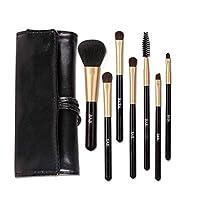 Gaoxingbianlidian001 化粧ブラシ、初心者7パック化粧ブラシ、ポータブル化粧ブラシ化粧ブラシツール,便利な化粧 (Color : Black)