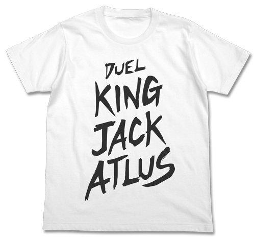遊☆戯☆王5D's デュエルキング ジャック・アトラス Tシャツ ホワイト Mサイズの詳細を見る