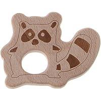 Dabixx ウッドテイザー 動物ユーカリティー 赤ちゃんの看護玩具噛むおもちゃの歯ぬいぐるみ玩具 - くま
