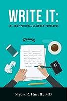 Write It: The NRMP Personal Statement Workbook