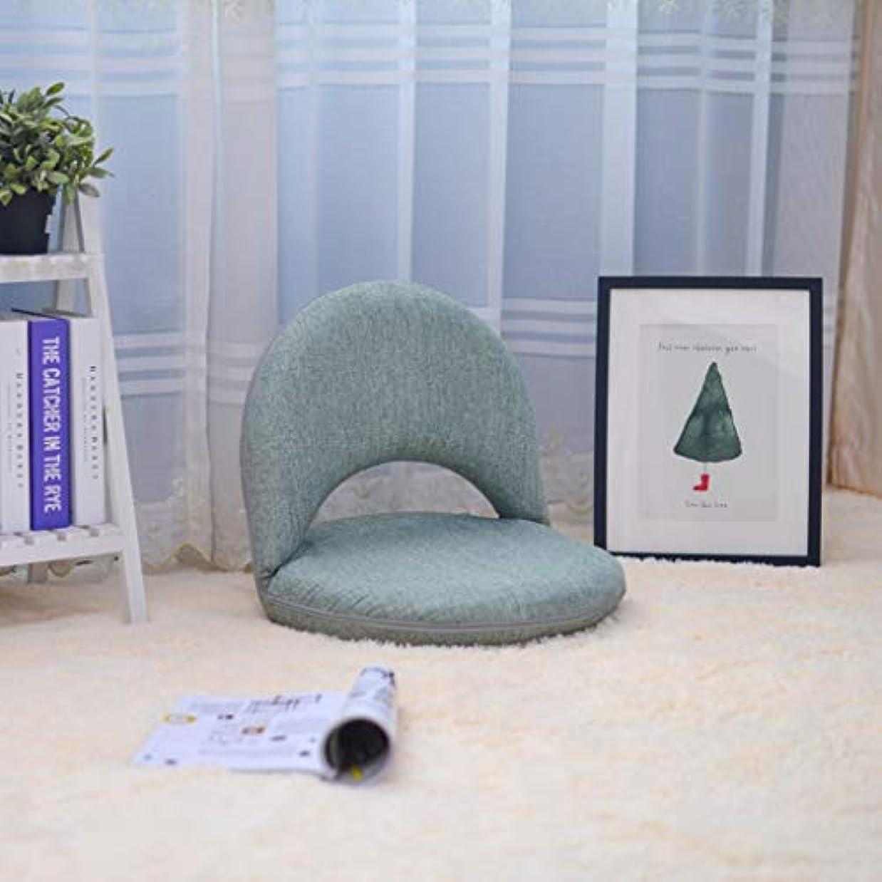 おめでとうライラック禁じる瞑想、セミナー、読書、テレビ鑑賞用の調節可能な背もたれ付きリビングルーム用家具レジャーチェア付きパッド入りフロアチェア (色 : Green)