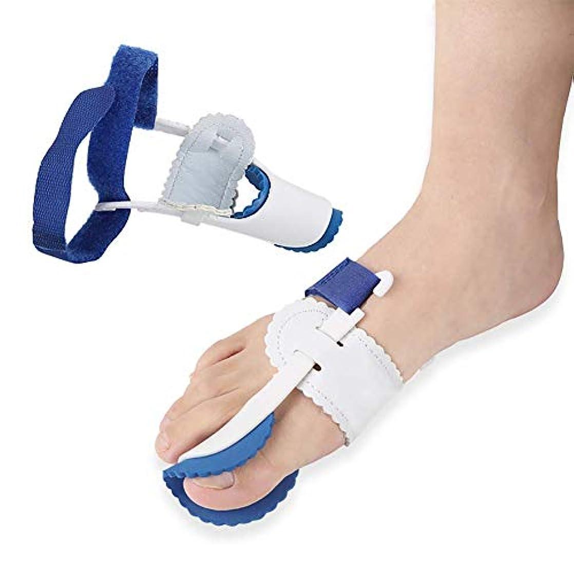 外反母Val、足の親指の関節、ハンマーのつま先、男性と女性のつま先スペーサー矯正用の痛みの治療のための腱膜瘤矯正と腱膜瘤のヒンジ付き整形外科の腱膜スプリント(5ペア)