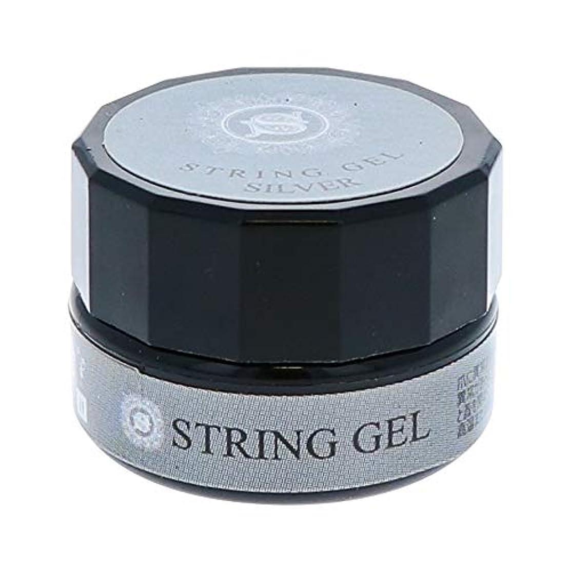 広げる協同ヘッドレスビューティーネイラー simply string gel (silver) 2.5g QSG-2 ジェルネイル