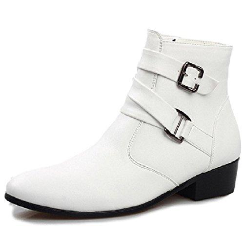 (モデルノ ラ テール) Moderno La Terre 選べる カラー クール な ジョッパー ブーツ サイド ジッパー 式 ML-JB (クールホワイト43WT:26.5cm)