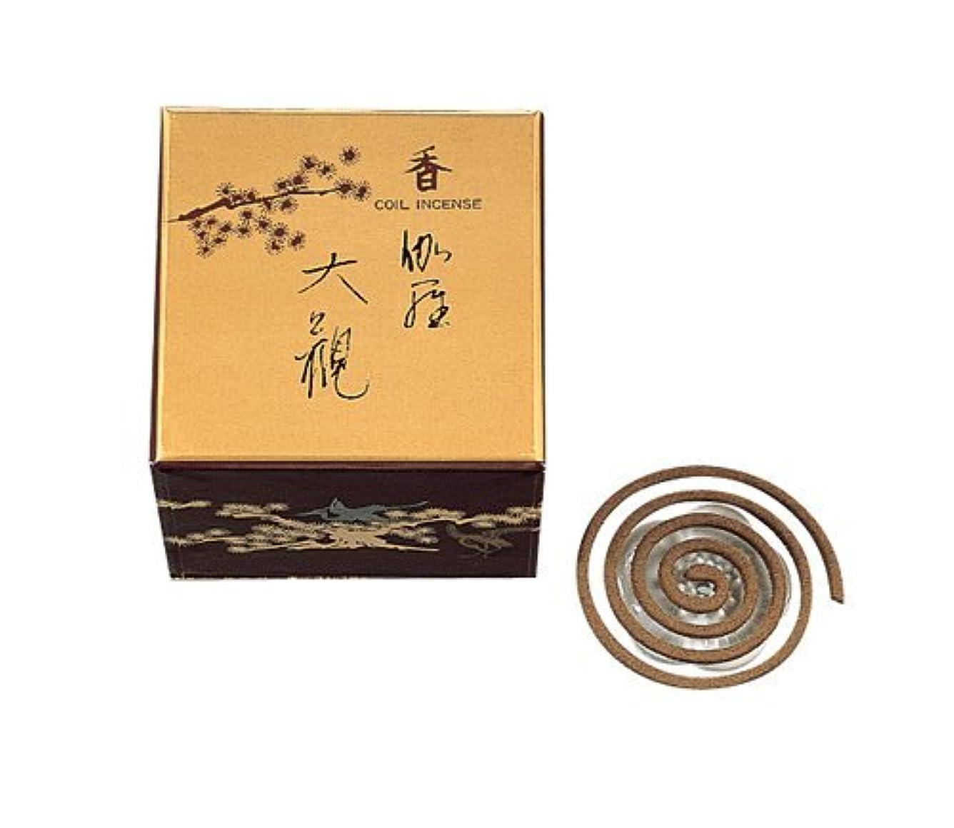 弾力性のある形式ぴったり香木の香りのお香 伽羅大観 うず巻12入