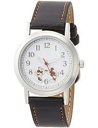 [ディズニー]Disney 腕時計 ミッキーマウス & ミニーマウス 革ベルト ブラック MKN001-3 レディース 【並行輸入品】