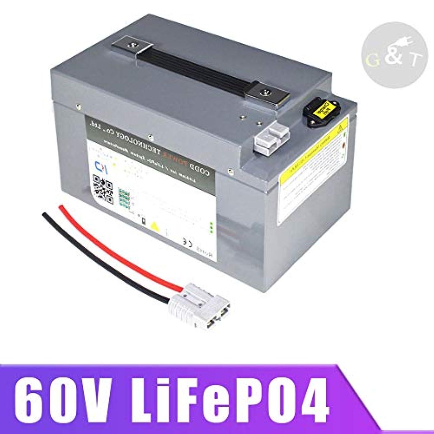 略すベッドを作る分子60V 60ah LiFePO4のバッテリー3000ワット4000ワット電動自転車フォークリフトスクーターオートバイ+ 6aの充電器のためのBMSディープサイクルと40ah (AC : D, Size : D)