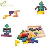 GYBBER&MUMU ジグソー パズル 積み木 木製おもちゃ 1歳赤ちゃんベビー向け、出産 誕生日 プレゼント お祝い 図形合わせ 知育思考力創造力を育てる 図形キューブ