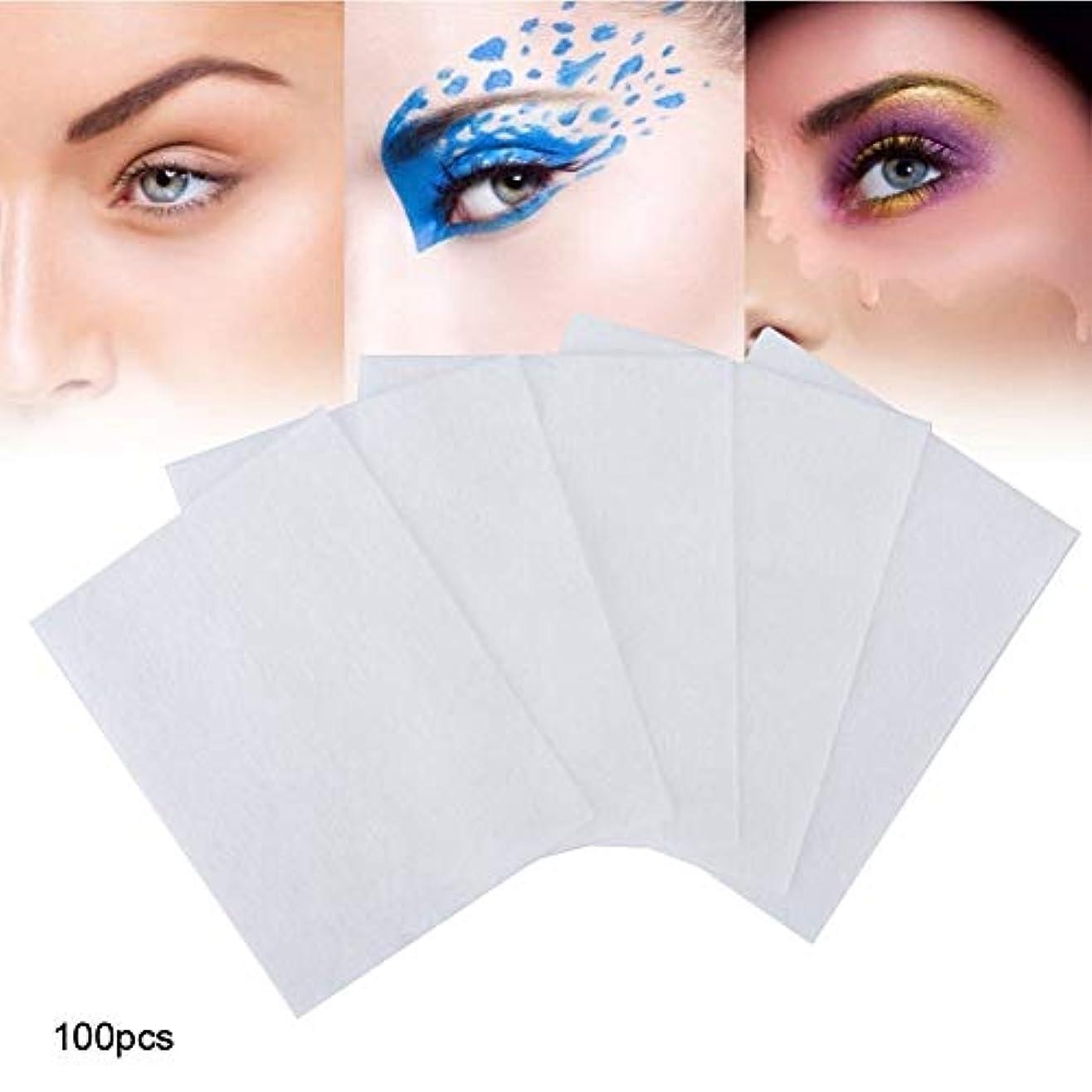完全に乾くカリキュラムサスペンション100個 化粧コットンパッド 化粧を削除する 使い捨て洗顔料