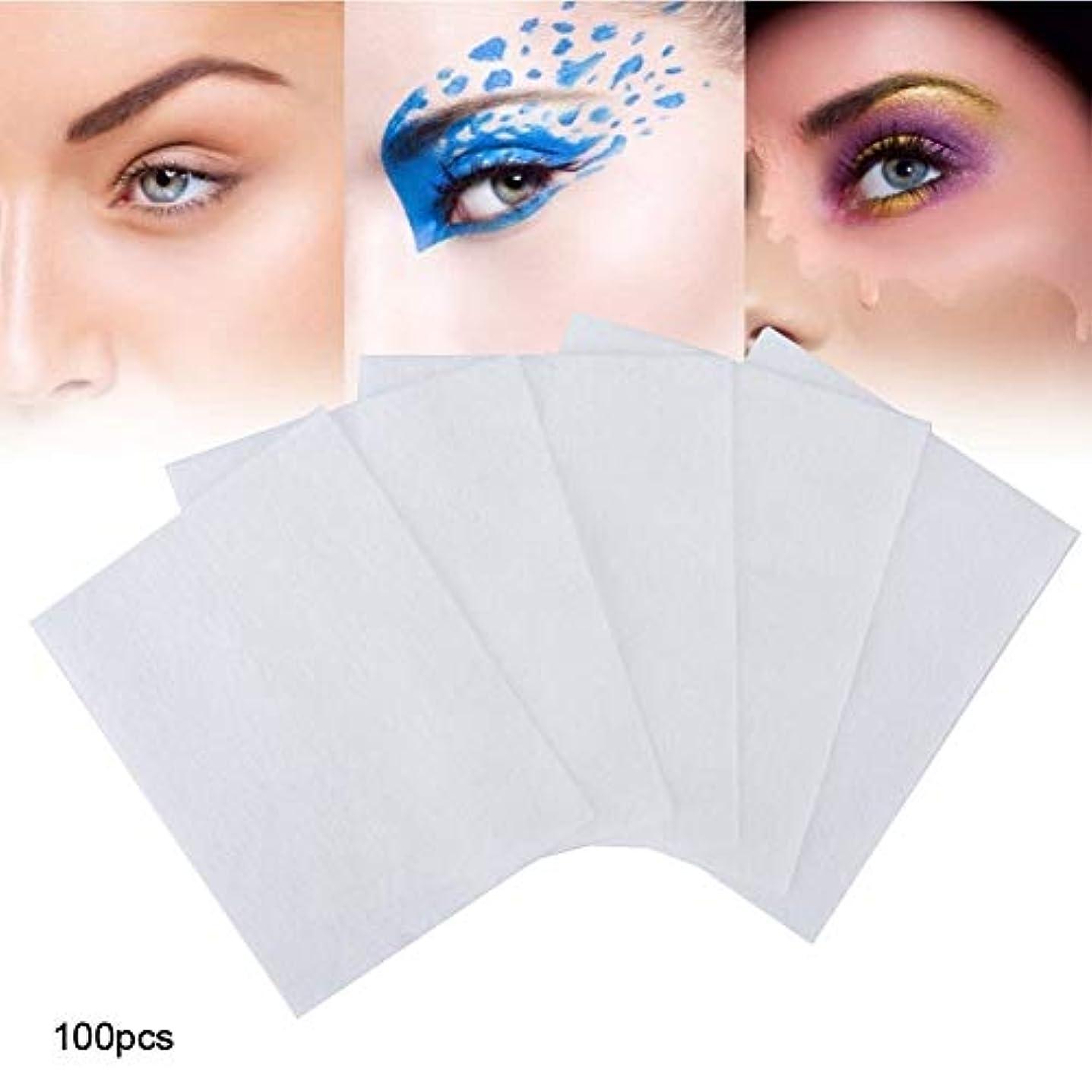 冗談でボス口ひげ100個 化粧コットンパッド 化粧を削除する 使い捨て洗顔料