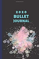 "2020 Bullet Journal: Dotted Grid, 6""x9"", 150 Numbered Pages, Watercolor Sparkle, Black Soft Cover"