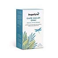 Dragonfly Cape Malay Rooibos Chai Organic 20 Teabags (Pack of 4, Total 80 Teabags)