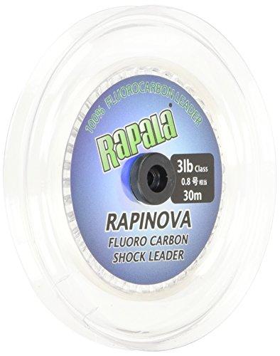 ラパラ リーダー ラピノヴァ ショックリーダー フロロカーボン 30m 0.8号 3lb クリア RFL30M3
