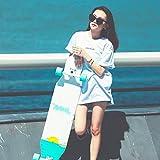 """DUWEN 43"""" ロングボードスケートボードコンプリート7レイヤメープルウッド凹デッキアダルトトリックスケートボードの少年少女四輪スクーター初心者プロフェッショナルスケートボード"""
