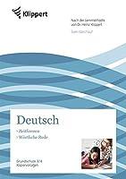 Zeitformen - Woertliche Rede: Grundschule 3/4. Kopiervorlagen (3. und 4. Klasse)