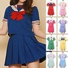 3点セット キャンディーセーラー服 costume621 ゴスロリ ロリータ パンク コスプレ コスチューム メイド ブルー m