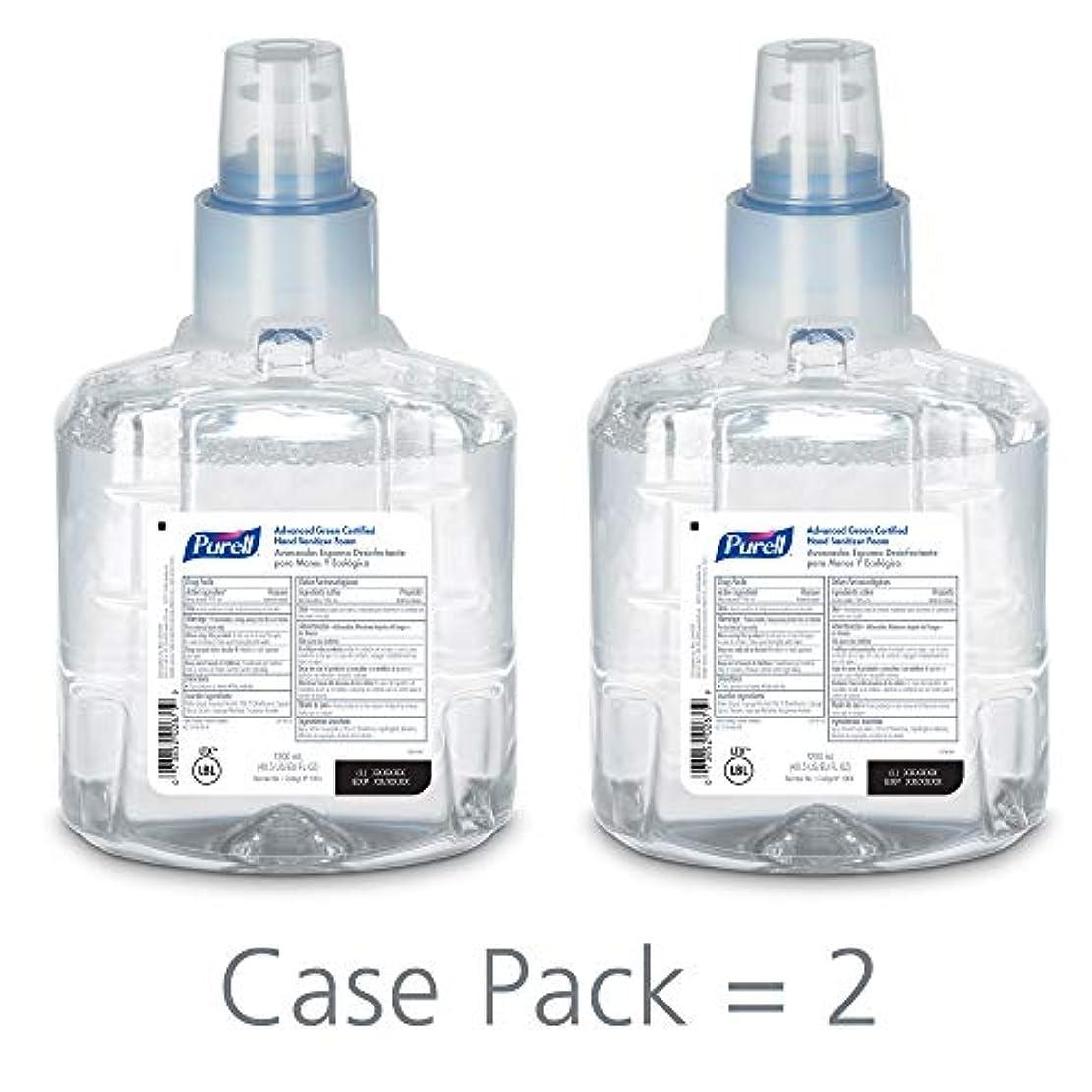風景熟達した闇PURELL 1904-02 1200 mL Advanced Green Certified Instant Hand Sanitizer Foam, LTX-12 Refill (Pack of 2) by Purell