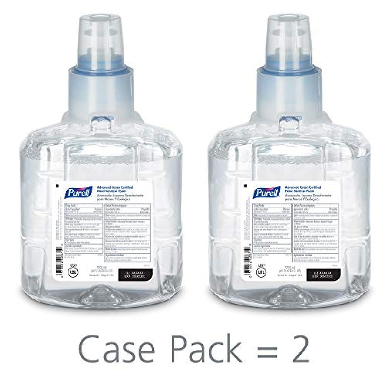 叫ぶスカープ四面体PURELL 1904-02 1200 mL Advanced Green Certified Instant Hand Sanitizer Foam, LTX-12 Refill (Pack of 2) by Purell