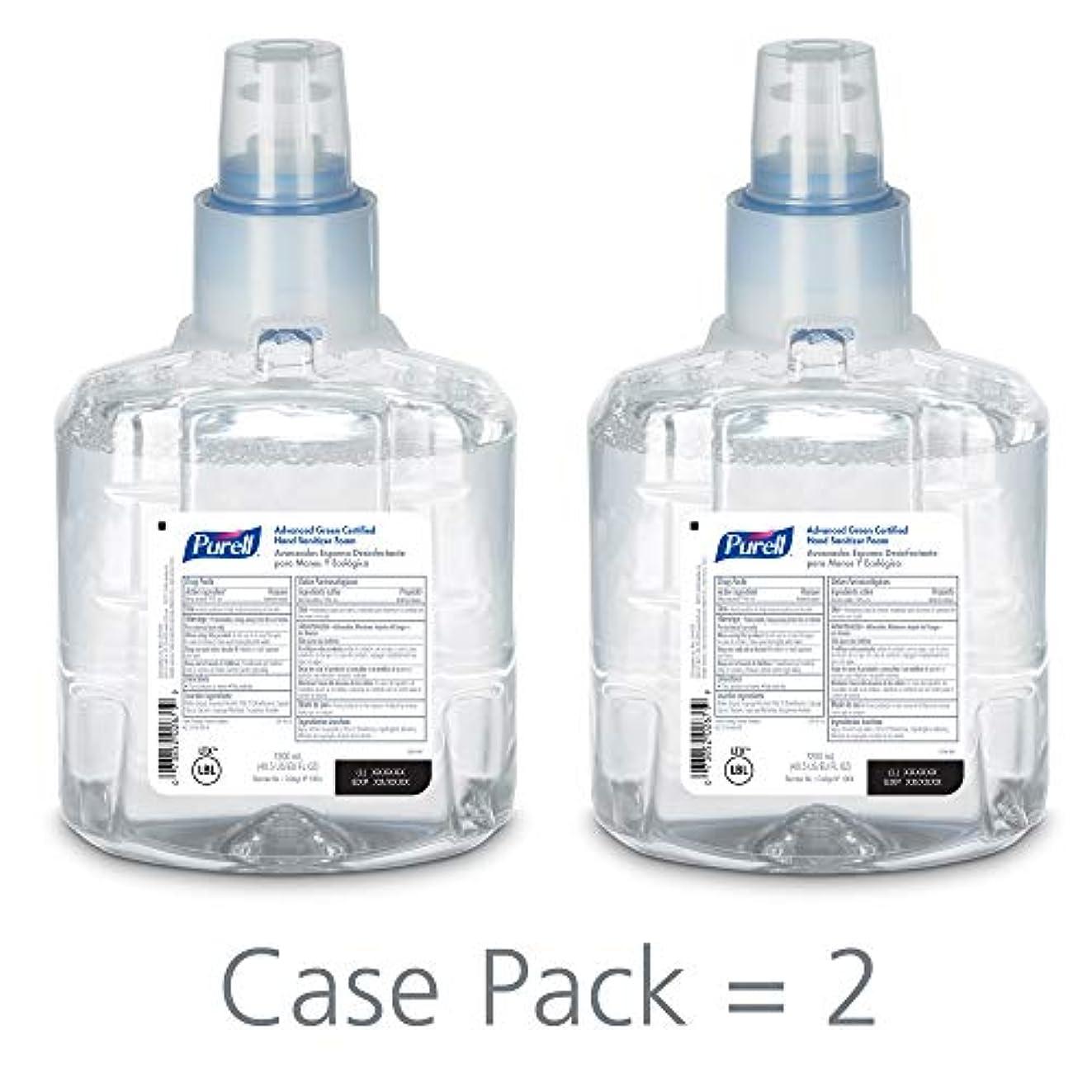 資格情報砂小説PURELL 1904-02 1200 mL Advanced Green Certified Instant Hand Sanitizer Foam, LTX-12 Refill (Pack of 2) by Purell