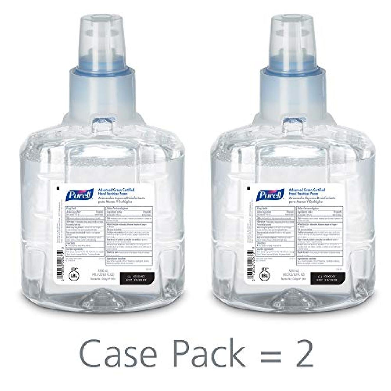 大洪水統合チャンバーPURELL 1904-02 1200 mL Advanced Green Certified Instant Hand Sanitizer Foam, LTX-12 Refill (Pack of 2) by Purell