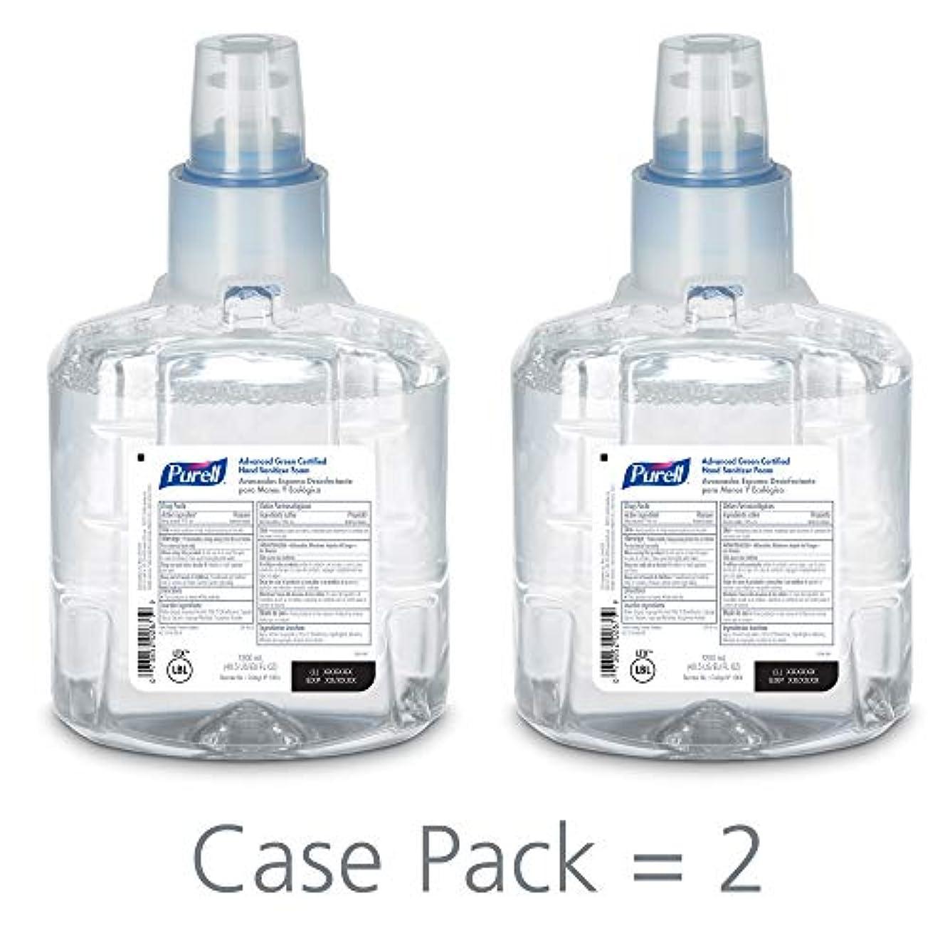 件名レバー侮辱PURELL 1904-02 1200 mL Advanced Green Certified Instant Hand Sanitizer Foam, LTX-12 Refill (Pack of 2) by Purell