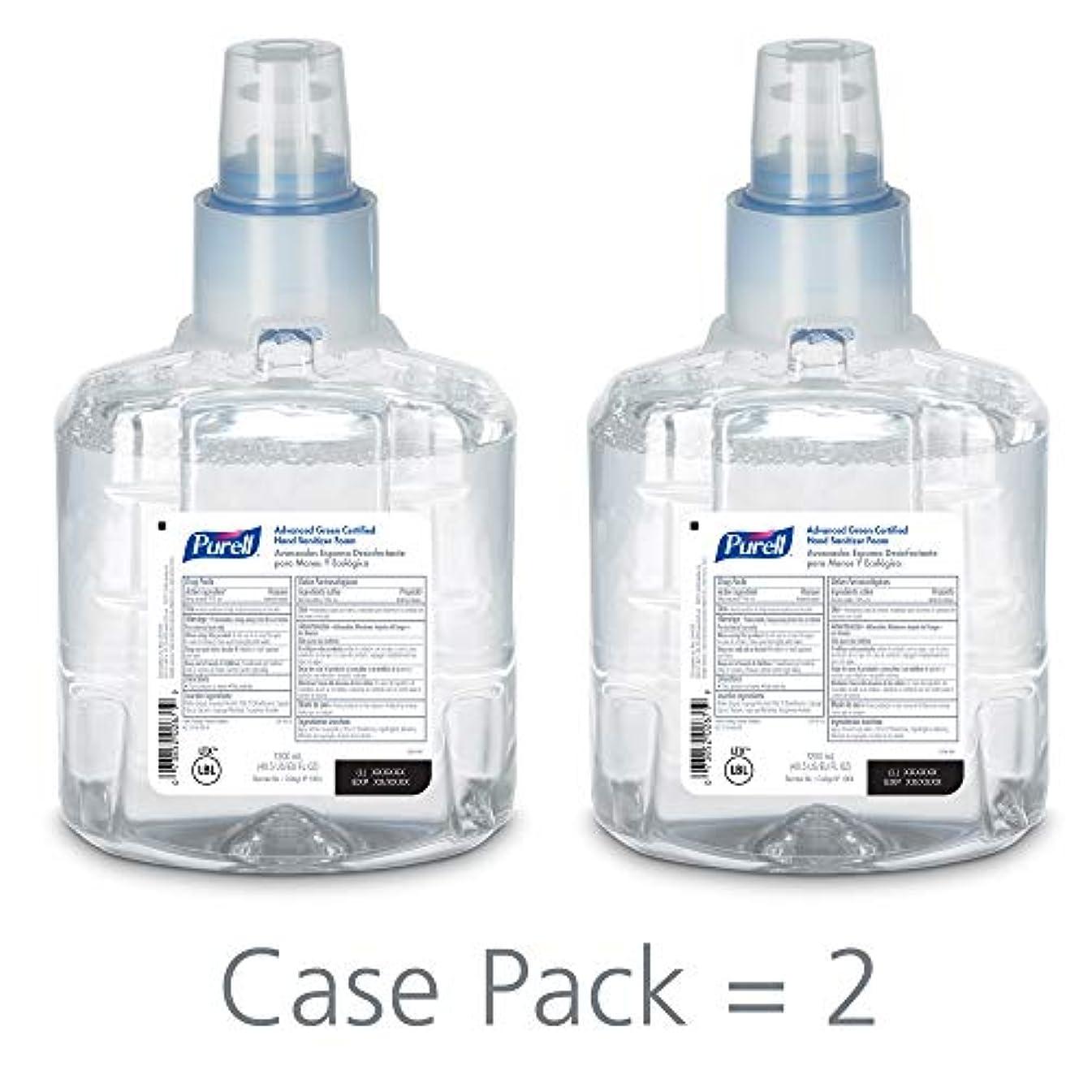 微生物レガシーポーチPURELL 1904-02 1200 mL Advanced Green Certified Instant Hand Sanitizer Foam, LTX-12 Refill (Pack of 2) by Purell