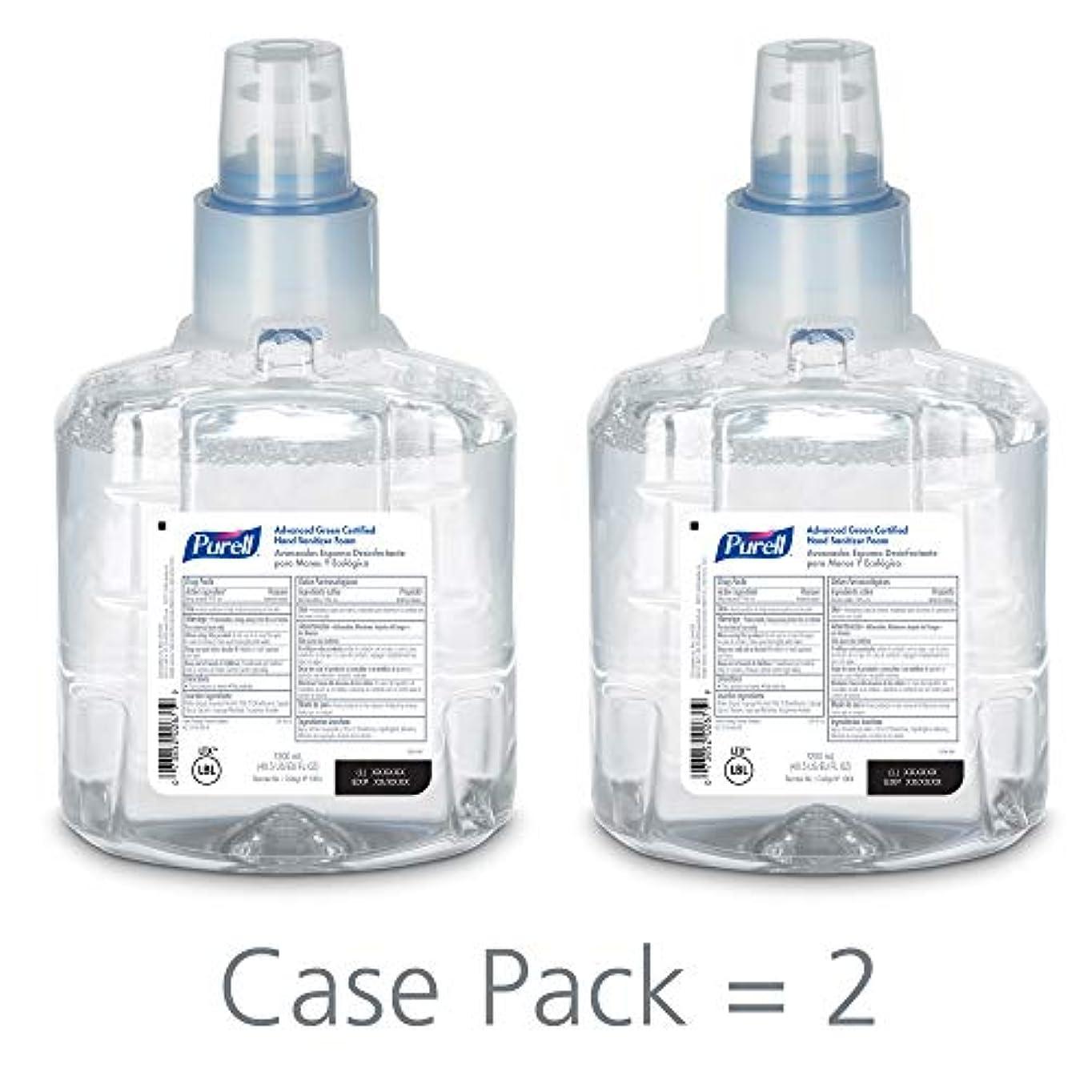 不潔配分フォーカスPURELL 1904-02 1200 mL Advanced Green Certified Instant Hand Sanitizer Foam, LTX-12 Refill (Pack of 2) by Purell