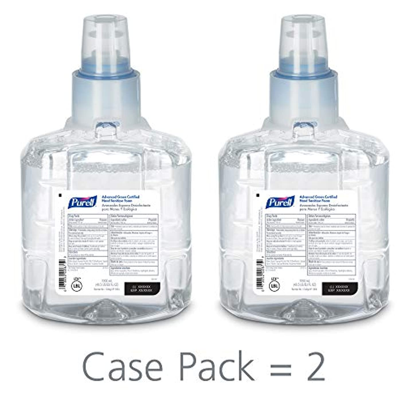 PURELL 1904-02 1200 mL Advanced Green Certified Instant Hand Sanitizer Foam, LTX-12 Refill (Pack of 2) by Purell