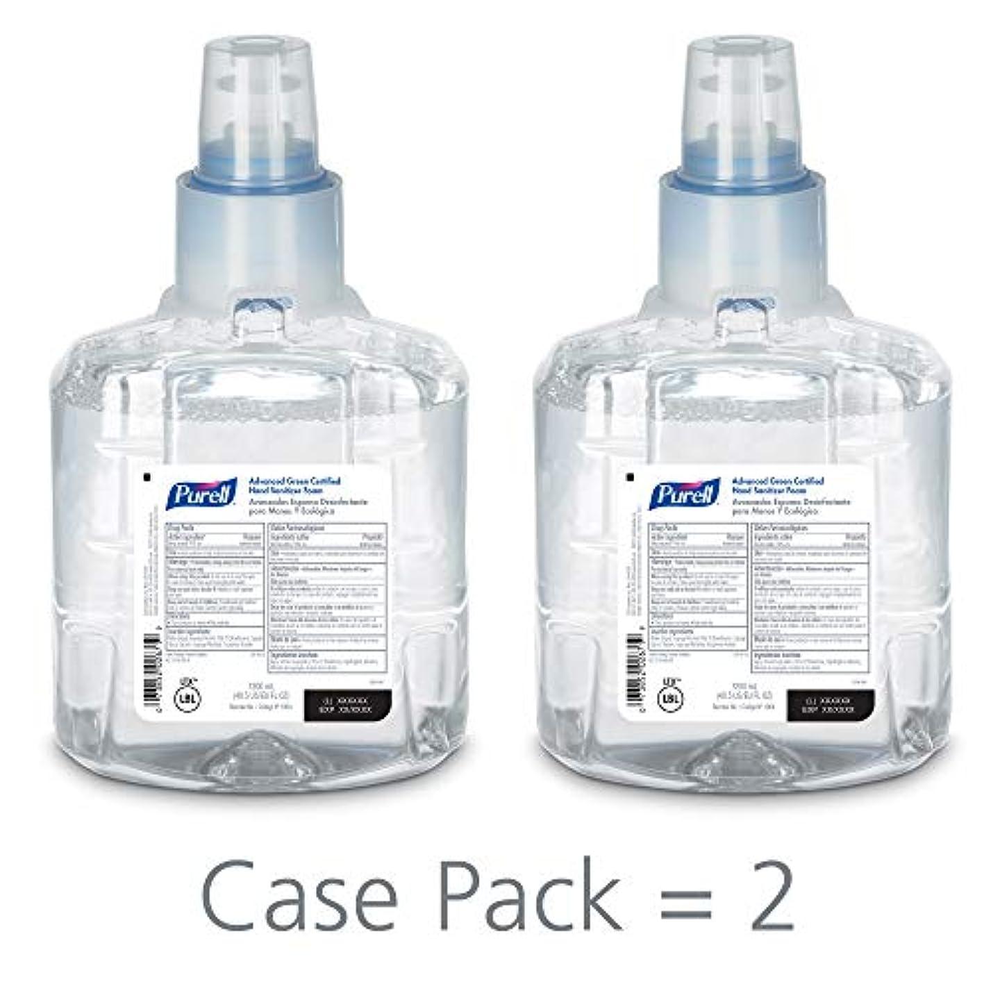 路面電車移植すべてPURELL 1904-02 1200 mL Advanced Green Certified Instant Hand Sanitizer Foam, LTX-12 Refill (Pack of 2) by Purell