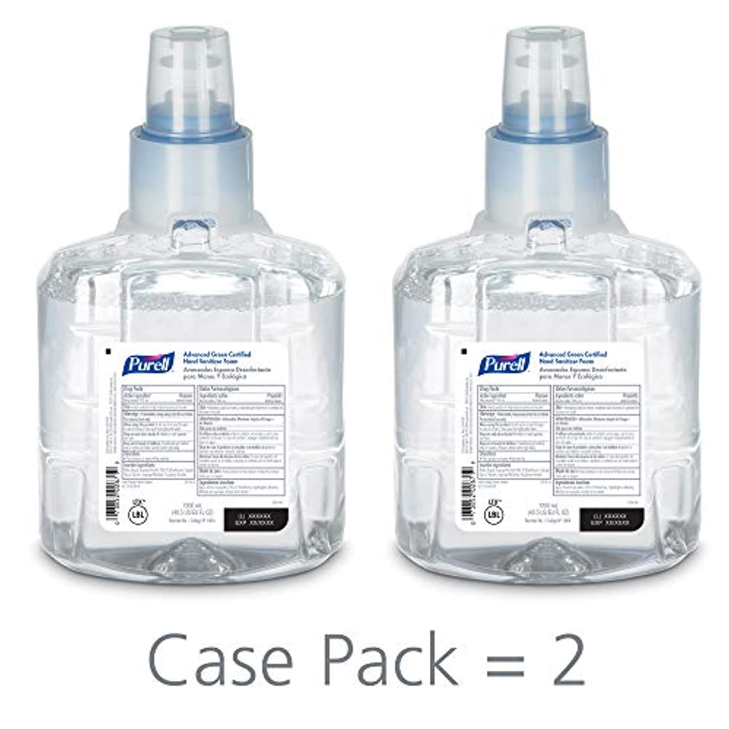 気になるニッケル祖母PURELL 1904-02 1200 mL Advanced Green Certified Instant Hand Sanitizer Foam, LTX-12 Refill (Pack of 2) by Purell
