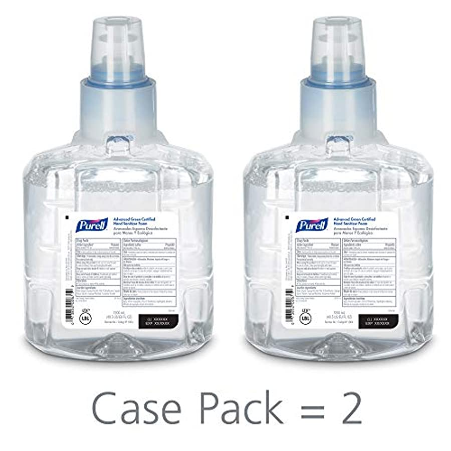 作者リテラシー呪いPURELL 1904-02 1200 mL Advanced Green Certified Instant Hand Sanitizer Foam, LTX-12 Refill (Pack of 2) by Purell