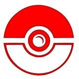 """Pokemon Go Pokeballデカールステッカー–3""""ラウンド0134 レッド 134"""