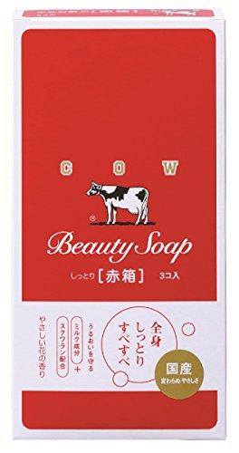カウブランド COW BRAND カウブランド 赤箱 (しっとり) 100g×3