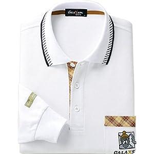 [ベルーナ] 選べるブランド長袖ポロシャツ 423612 ホワイト 日本 L-(日本サイズL相当)