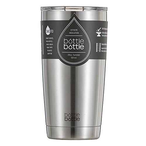 真空断熱 タンブラー ふた付き 保温保冷 ステンレス 600ml シルバー ボトルボトル bottlebottle