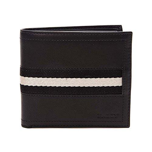 (バリー)BALLY 二つ折り財布 レザー 本革 TYE 290 BLACK ブラック [並行輸入品]