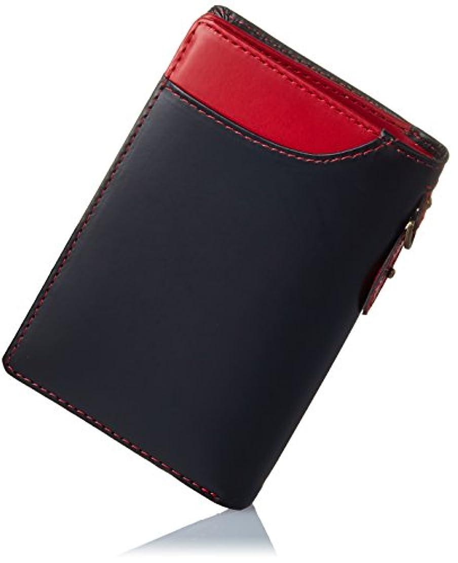 に渡って手伝うアパートHealthknit (ヘルスニット) 財布 二つ折り L字型ファスナー 小銭入れ メンズ